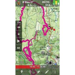 Applicazione per tablet/smartphone per il collare di tracciamento Tracker G500FI black magnum