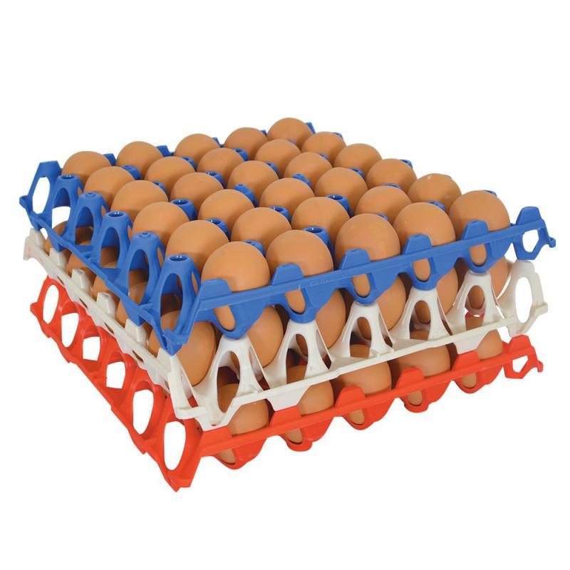 Vassoio per uova in plastica impilabile