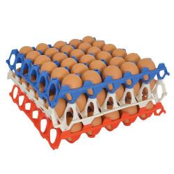 Set di 10 vassoi per uova in plastica impilabili