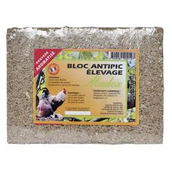 Blocco anti-pecking per galline