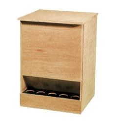 Mangiatoia per piccioni di legno 25kg
