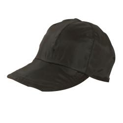 Cappellino bambino reversibile color cachi e arancione