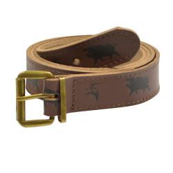 Cintura con motivo di cinghiale e beccaccia