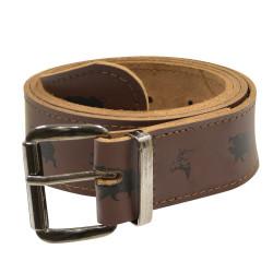 Cintura con motivo a cinghiale e beccaccia