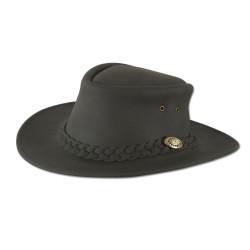 Cappello di pelle nera