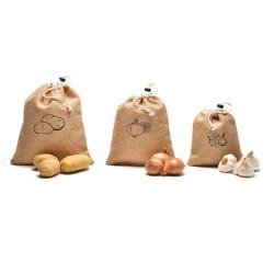 3 sacchetti aglio / cipolle / patate